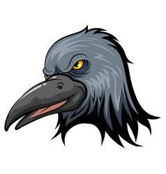 Mascot head an crow vector