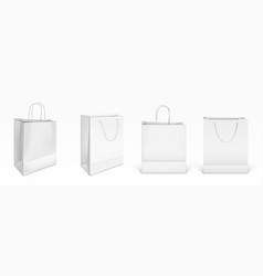 mockup white paper shopping bags vector image