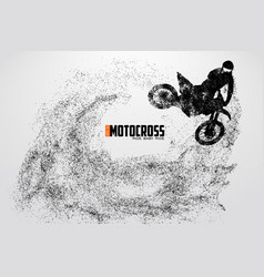 Motocross drivers silhouette vector