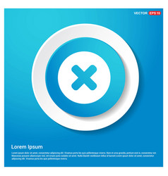 Multiply icon abstract blue web sticker button vector