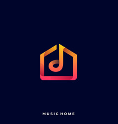 music house template vector image