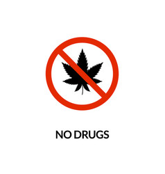 no drugs prohibited icon cannabis forbidden vector image