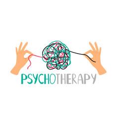 Psychotherapy concept icon vector