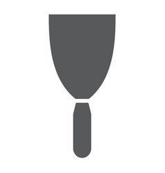 putty knife glyph icon tool and scraper vector image