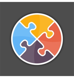 Puzzle Circle vector image