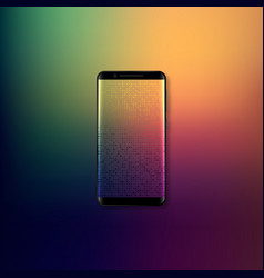 Realistic 3d mobile smartphone vector