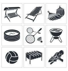 Recreation icon collection vector