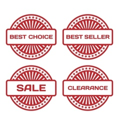 Red Rubber Stamp Set Sale best seller best choice vector image