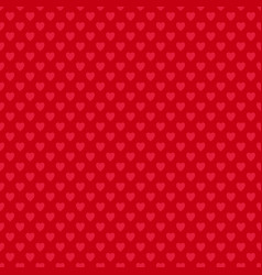 Red seamless heart pattern background - love vector