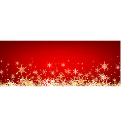 Red winter banner with snowflakes vector image vector image