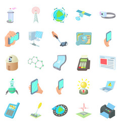 Refurbished icons set cartoon style vector