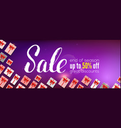 sale banner with handwritten lettering vector image