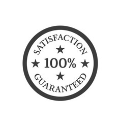 Satisfaction guaranteed badge on white background vector