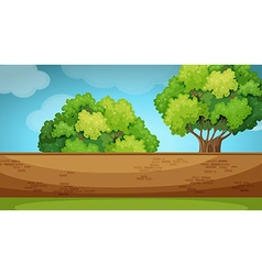 Scene with brickwall in the garden vector image