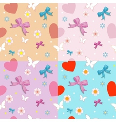 Seamless with bows vector