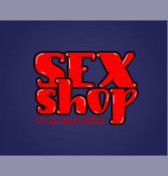 Sexy rounded font alphabet in erotic style vector