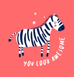 sketch zebra for boys hand-drawing zebra vector image