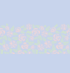 subtle abstract flat roses seamless border vector image