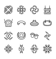 Symbols and signs icons pack vector