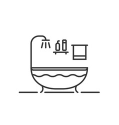 thin line bath icon in bathroom vector image