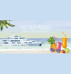 travel boat summer cruise journey poster vector image