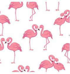 Tropical flamingo pattern vector