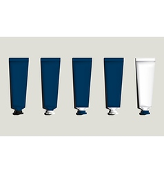 Tubes for packaging blue set vector image