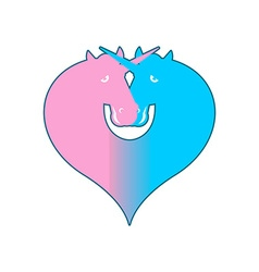 Unicorn LGBT symbol community Sign of love and two vector image