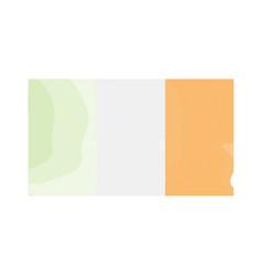 watercolor flag of ireland vector image