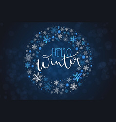 winter banner template vector image