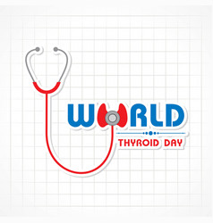 World thyroid day poster - medical concept vector