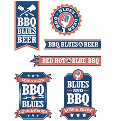 Barbecue and Blues vector image