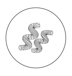 cavatappi pasta icon in outline style isolated on vector image