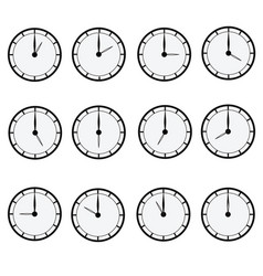 clock all vector image