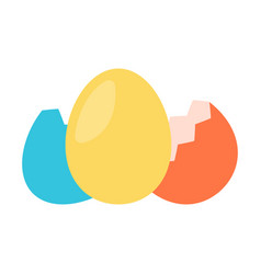 colorfull egg with shell vector image vector image