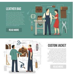 Customers and skinners horizontal banners vector