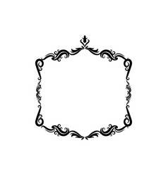 decorative frame floral border cute image vector image