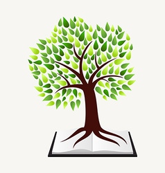 Education concept tree book vector image vector image