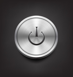 Metal Power Button vector image