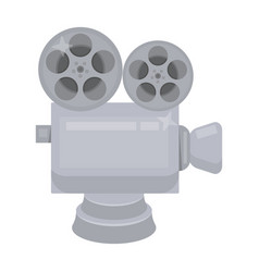 silver camera with filmthe award for the best vector image