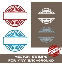 Blank Rubber Stamp Set Template For Any Background vector image