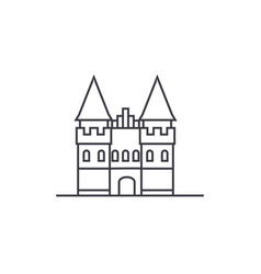 castle in europe line icon sign vector image