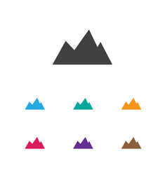 of trip symbol on mountain vector image
