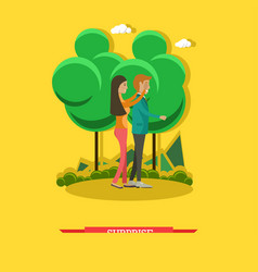 surprise concept in flat style vector image