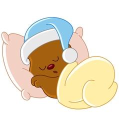 teddy bear sleeping vector image