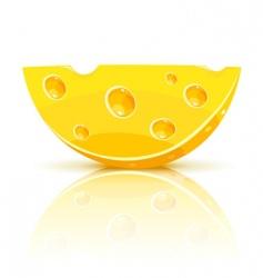 cheese segment vector image