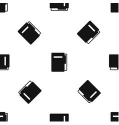 file folder pattern seamless black vector image