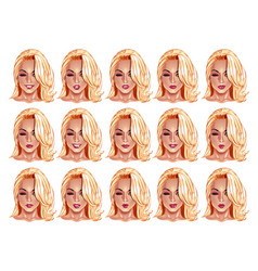 portraits of beatuful woman with blonde hair vector image vector image