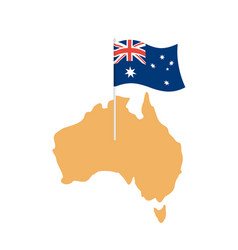 australia map and flag australian resource and vector image vector image