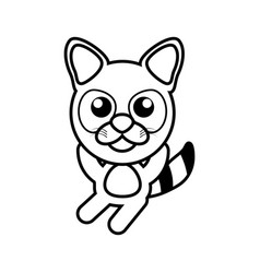 cartoon raccoon animal outline vector image